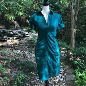Express button down midi dress size 4